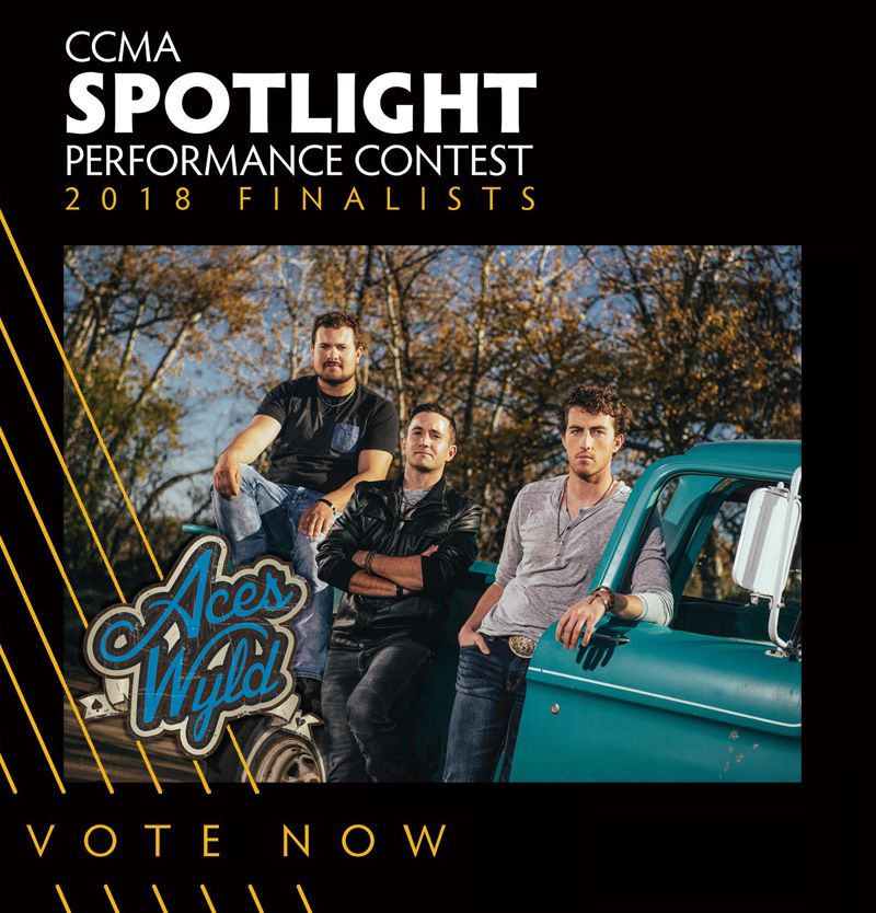 Aces Wyld representing Sask in the CCMA Spotlight Performance Contest 2018