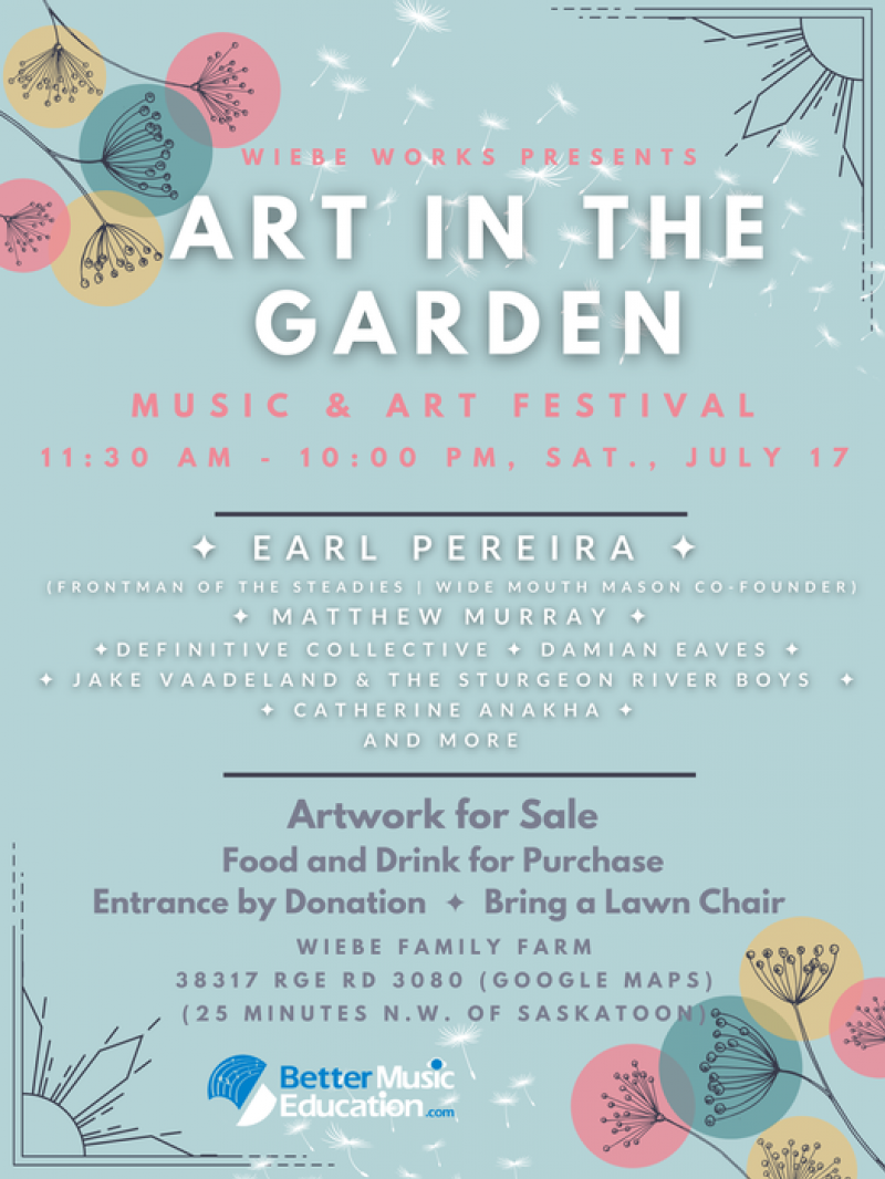 'Art in the Garden' One-Day Music Festival Launching July 17