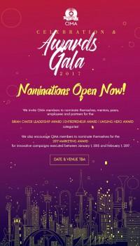 Nominations now open for CIMA's 2017 Celebration & Awards Gala!