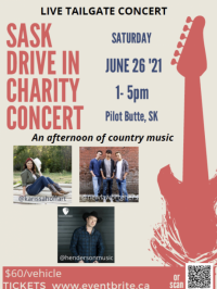 Sask Drive In Charity Concert In Pilot Butte,SK
