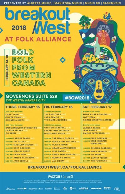 Saskatchewan At Folk Alliance 2018