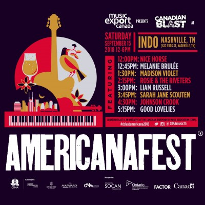 AmericanaFest Mission, September 11-16/2018, Nashville TN
