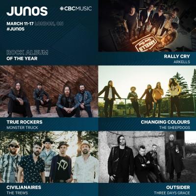 Saskatchewan JUNO Nominations 2019