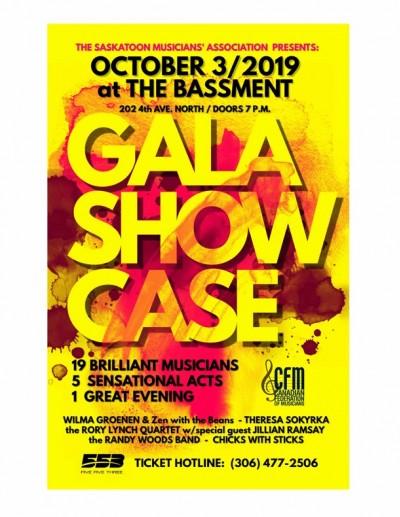 Saskatoon Musicians' Association Local 553 Presents: GALA SHOWCASE 2019