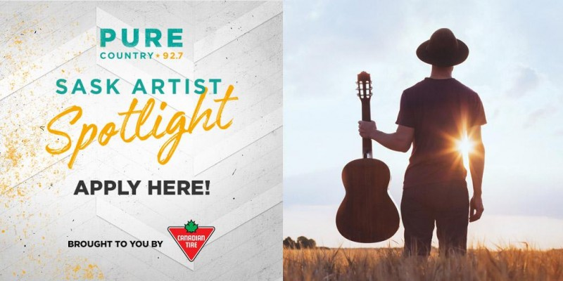 Promotion Opportunity: Pure Country 92.7 Sask Artist Spotlight