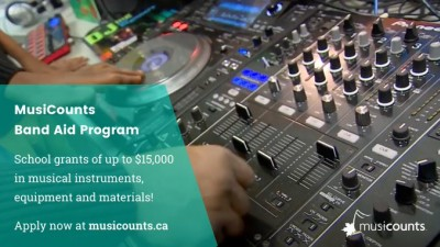Funding Opportunity: The MusiCounts Band Aid Program