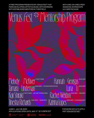 Mentorship Opportunity: The Venus Fest Mentorship Program